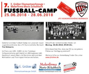 Read more about the article 7. E. Gräber Diamantwerkzeuge + Malerfirma Mario Schabbach Fussball-Camp – JETZT ANMELDEN!!!