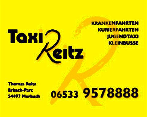 """Neuer Werbepartner – """"Taxi Reitz"""""""