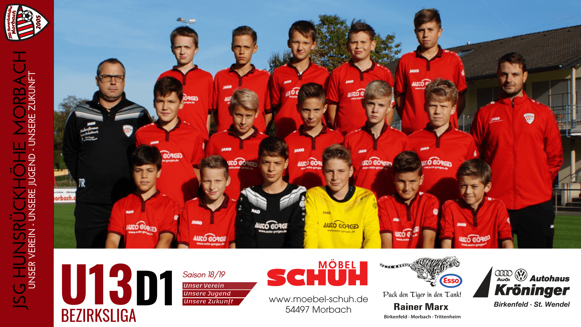 U13 D1: Vorbericht ~ JSG Hunsrückhöhe Morbach – FC Trier ~ Sa., 25.05.2019 14:00 Uhr