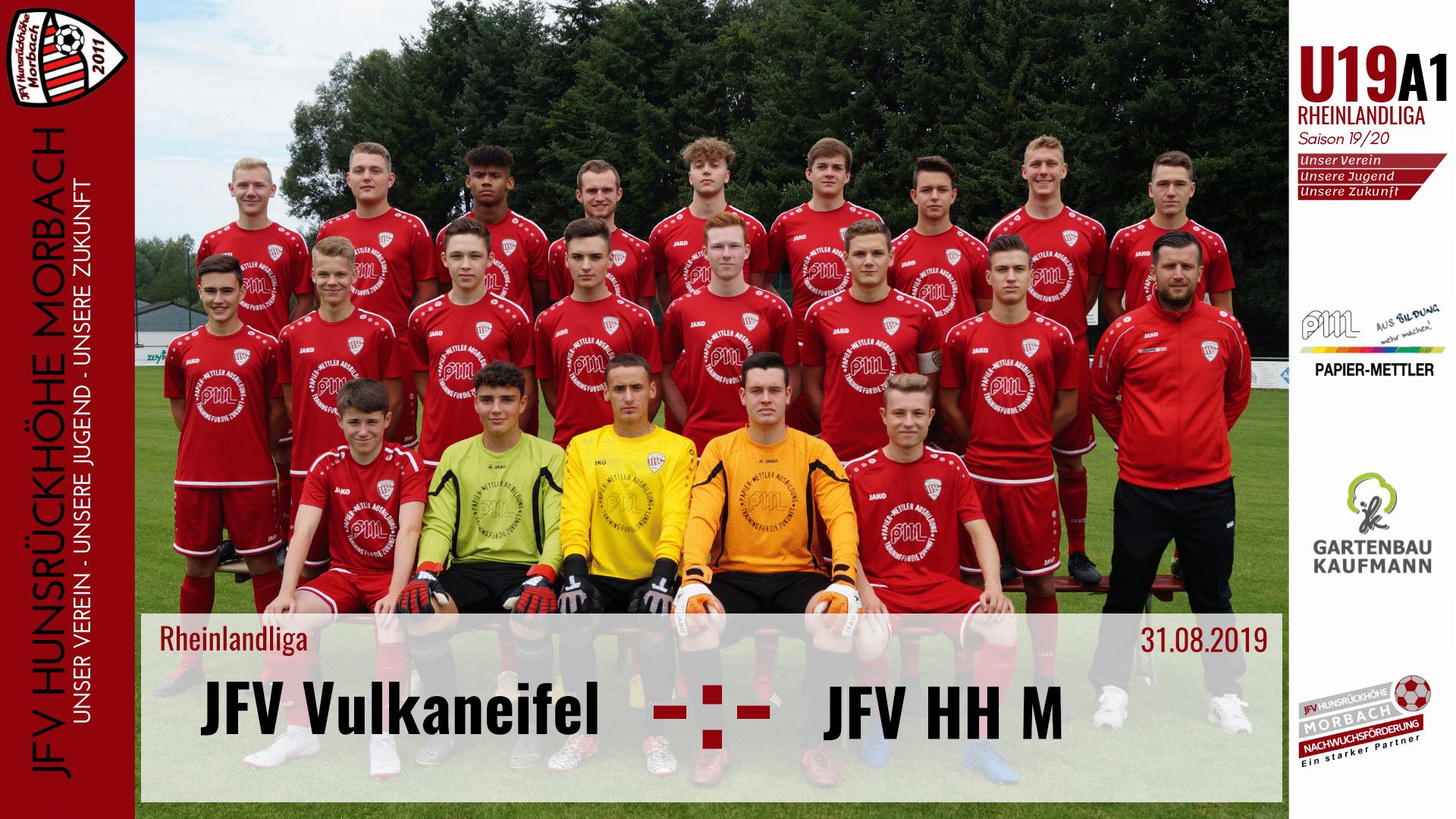 U19 A1: Vorbericht ~ JFV Vulkaneifel – JFV Hunsrückhöhe Morbach ~ So., 31.08.19 15:15 Uhr