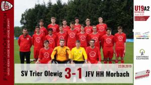 U19 A2: SV Trier-Olewig – JFV Hunsrückhöhe Morbach 3-1 (1-0)