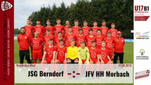 U17 B1: Vorbericht ~ JSG Berndorf – JFV Hunsrückhöhe Morbach ~ Sa., 31.08.19 13:00 Uhr