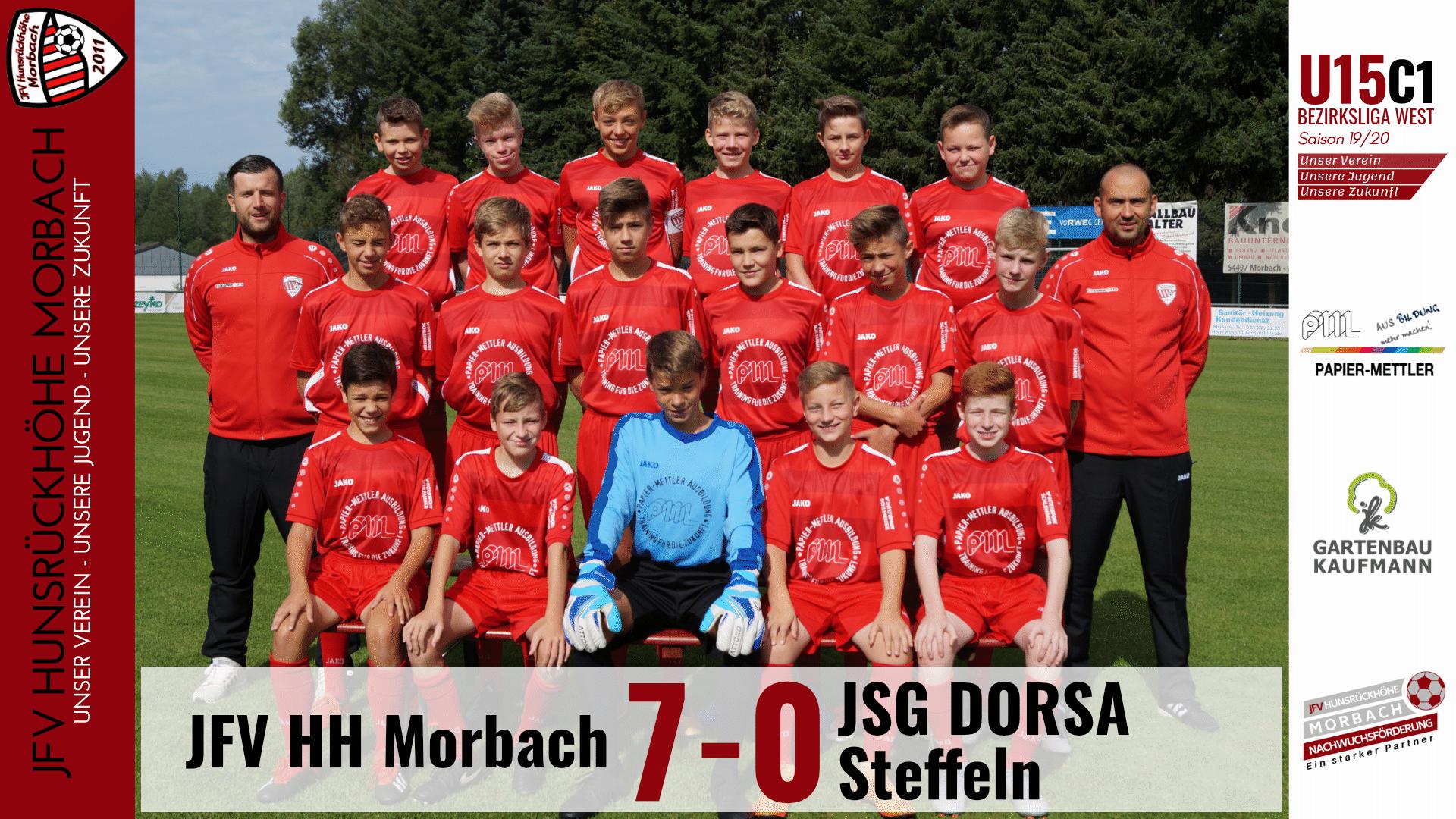 U15 C1: JFV Hunsrückhöhe Morbach – JSG DORSA-Steffeln 7-0 (3-0)