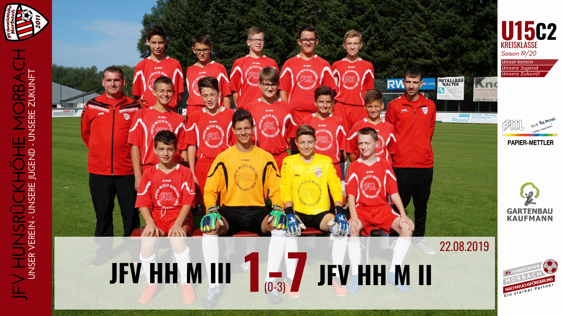 U15 C2: JFV Hunsrückhöhe Morbach III – JFV Hunsrückhöhe Morbach II 1-7 (0-3)