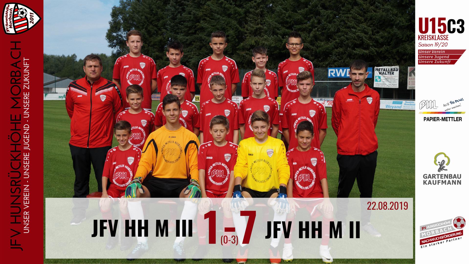 U15 C3: JFV Hunsrückhöhe Morbach III – JFV Hunsrückhöhe Morbach II 1-7 (0-3)