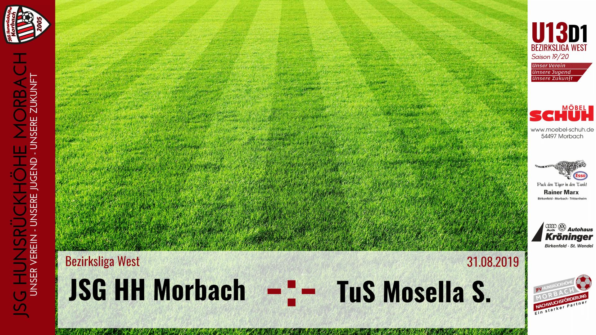 U13 D1: Vorbericht ~ JSG Hunsrückhöhe Morbach – TuS Mosella Schweich I ~ Sa., 31.08.2019 11:00 Uhr