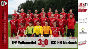 U19 A1: JFV Vulkaneifel – JFV Hunsrückhöhe Morbach 3:0 (2:0)