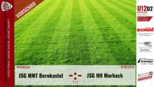 U12 D2: Vorbericht ~ JSG Mittelmoseltal Bernkastel – JSG Hunsrückhöhe Morbach ~ Sa., 07.09.2019 13:30 Uhr