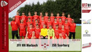 U17 B1: Vorbericht ~ JFV Hunsrückhöhe Morbach – JSG Saarburg ~ Sa., 07.09.19 16:00 Uhr