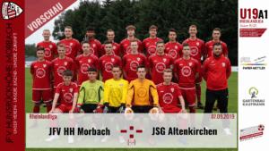 U19 A1: Vorbericht ~ JFV Hunsrückhöhe Morbach – JSG Altenkirchen ~ Sa., 07.09.19 18:00 Uhr