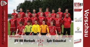 U19 A1: Vorbericht ~ JFV Hunsrückhöhe Morbach – Spfr Eisbachtal ~ Sa., 21.09.19 17:00 Uhr