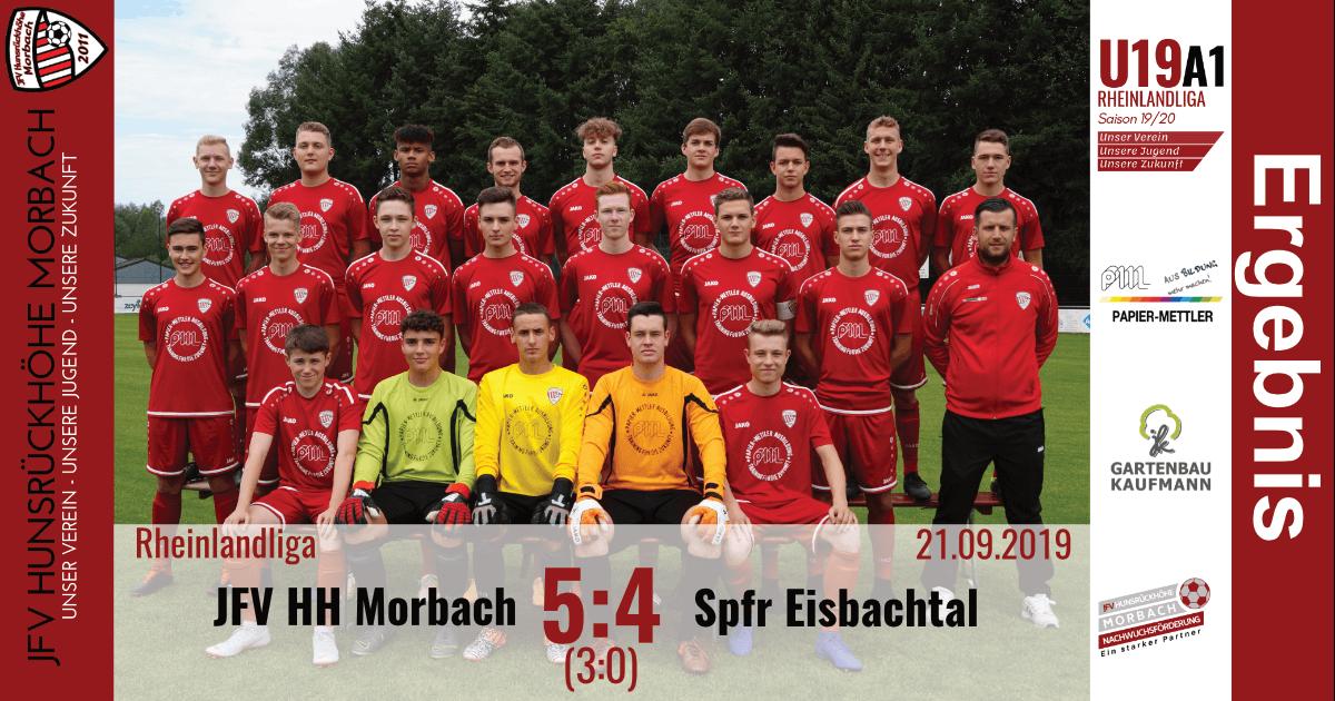 U19 A1: JFV Hunsrückhöhe Morbach – Spfr Eisbachtal 5:4 (3:0)