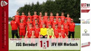 U17 B1: JSG Berndorf – JFV Hunsrückhöhe Morbach 1:1 (1:0)