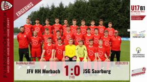 U17 B1: JFV Hunsrückhöhe Morbach – JSG Saarburg 1:0 (1:0)