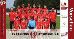 U15 C1: JFV Hunsrückhöhe Morbach – JFV Wittlicher Tal 4:0 (2:0)