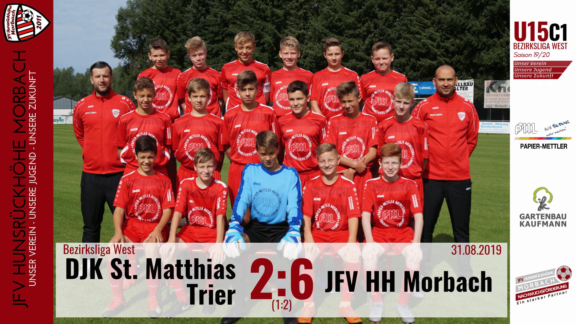 U15 C1: DJK St. Matthias Trier – JFV Hunsrückhöhe Morbach 2:6 (1:2)