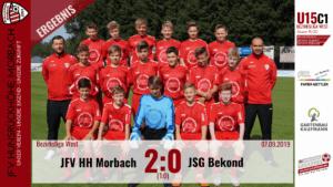 U15 C1: JFV Hunsrückhöhe Morbach – JSG Bekond 2:0 (1:0)