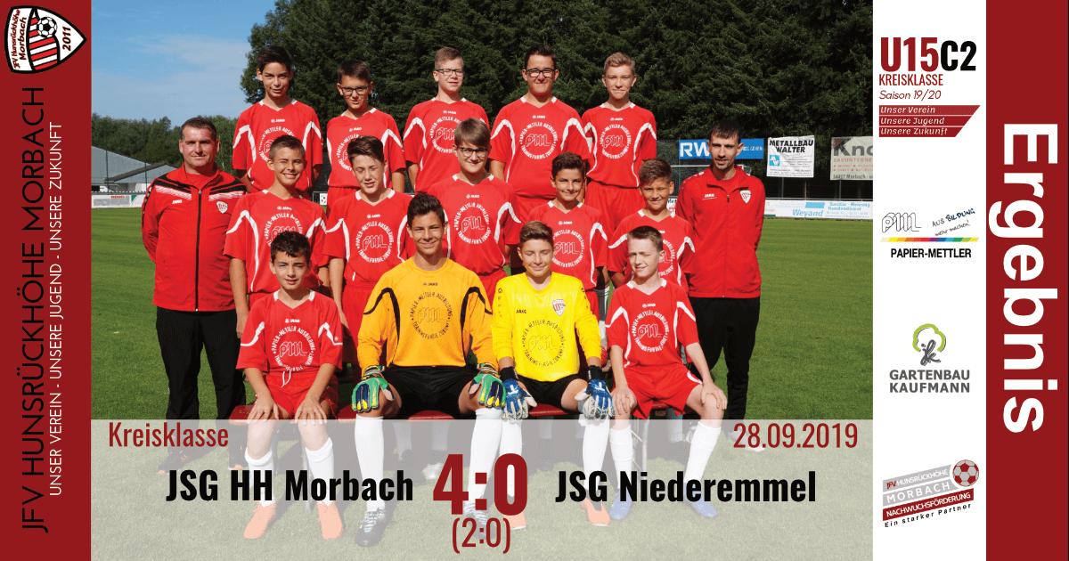 U15 C2: JFV Hunsrückhöhe Morbach – JSG Niederemmel 4:0 (2:0)