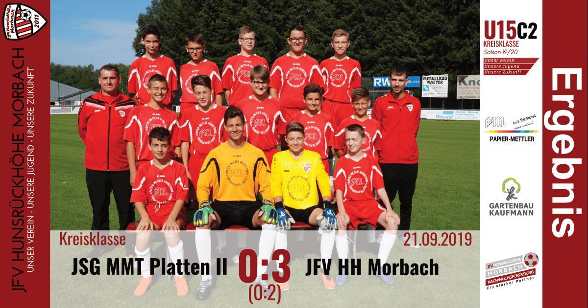 U15 C2: JSG Mittelmoseltal Platten II – JFV Hunsrückhöhe Morbach 0:3 (0:2)