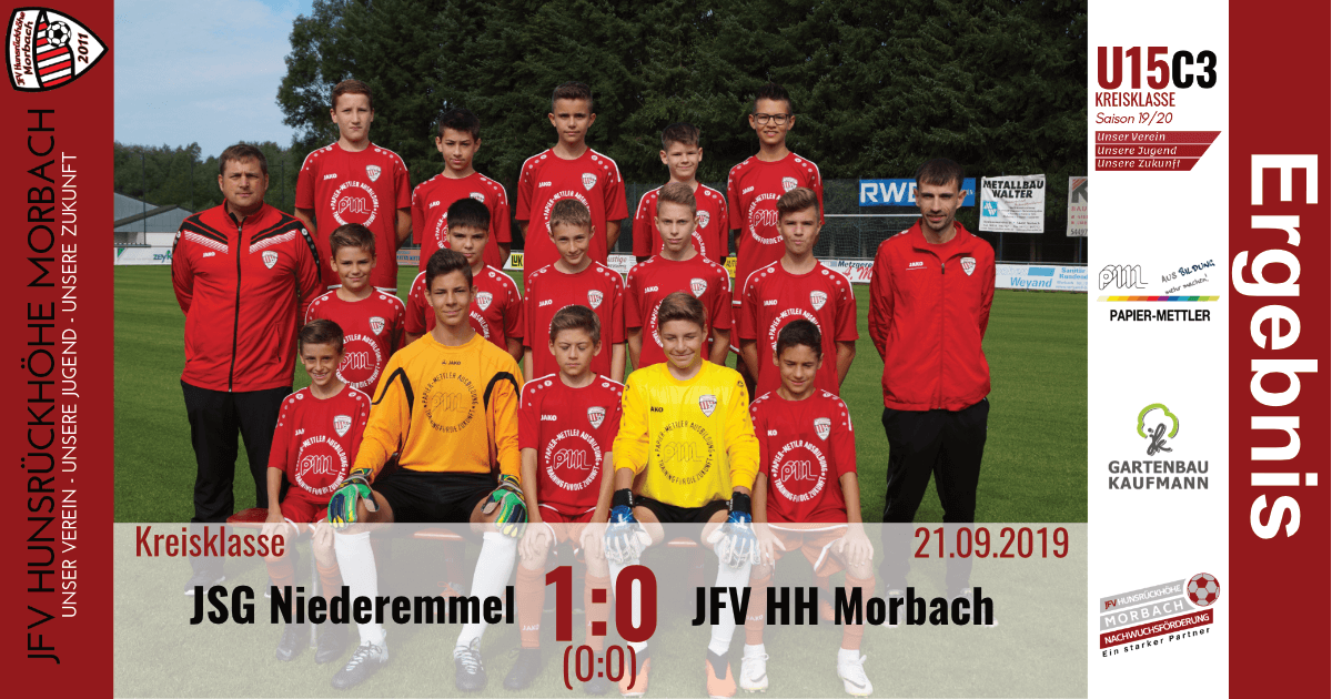 U15 C3: JSG Niederemmel – JFV Hunsrückhöhe Morbach 1:0 (0:0)