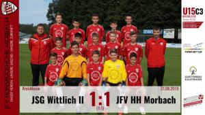 U15 C3: JSG Wittlich II – JFV Hunsrückhöhe Morbach III 1:1 (1:1)