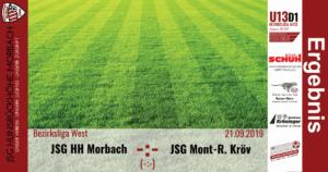 U13 D1: Vorbericht ~ JSG Hunsrückhöhe Morbach – JSG Mont-Royal Kröv ~ Sa., 21.09.2019 11:00 Uhr