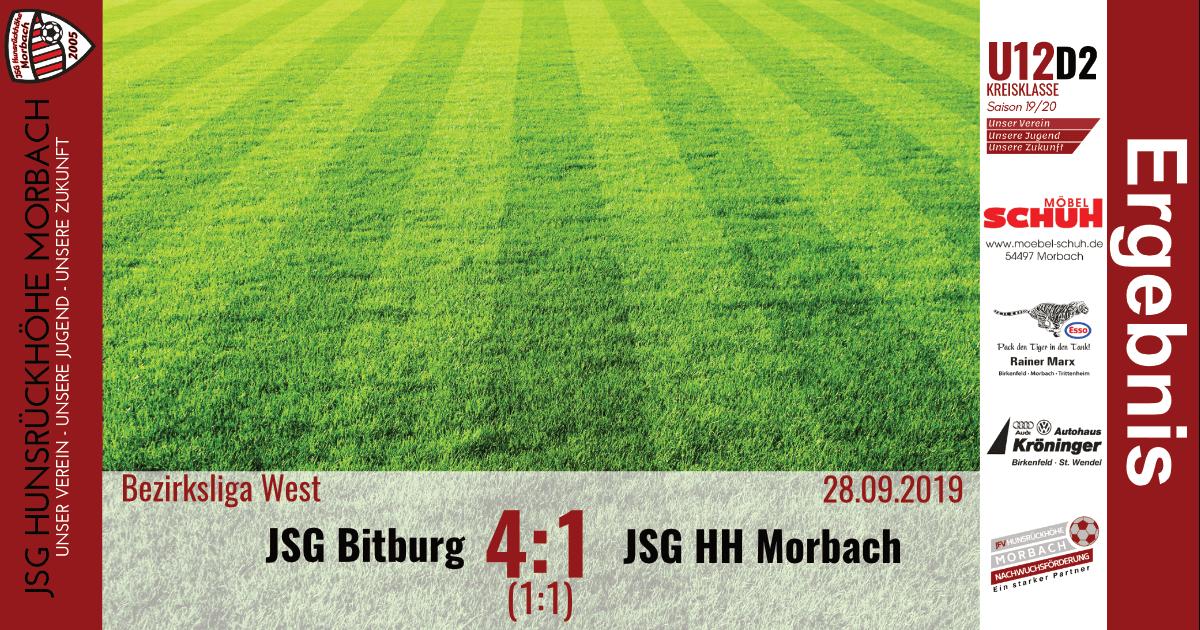 U13 D1: JSG Bitburg – JSG Hunsrückhöhe Morbach 4:1 (1:1)
