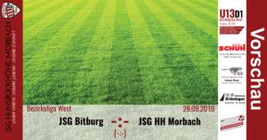 U13 D1: Vorbericht ~ JSG Bitburg – JSG Hunsrückhöhe Morbach ~ Sa., 28.09.2019 14:00 Uhr
