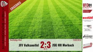 U13 D1: JFV Vulkaneifel – JSG Hunsrückhöhe Morbach 2:3 (0:1)