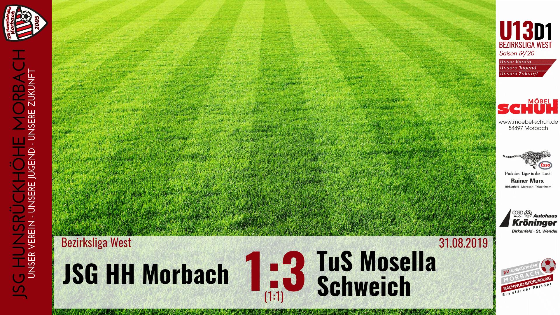 U13 D1: JSG Hunsrückhöhe Morbach – TuS Mosella Schweich I 1:3 (1:1)