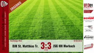 Read more about the article U13 D1: DJK St. Matthias Trier – JSG Hunsrückhöhe Morbach 3:3 (1:3)