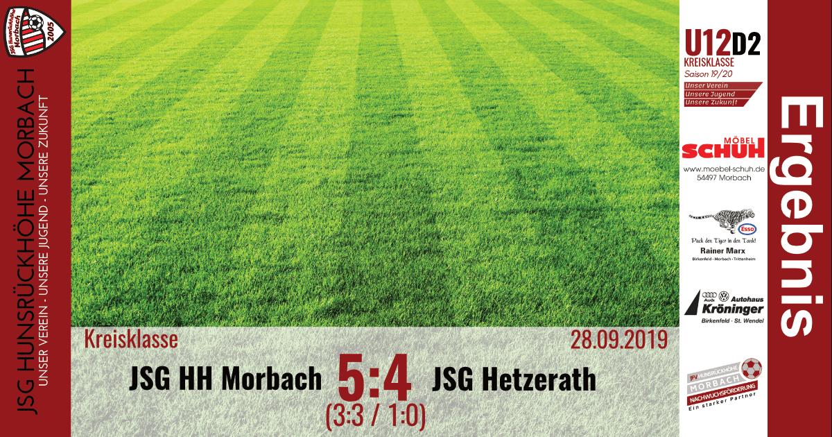 U12 D2: JSG Hunsrückhöhe Morbach – JSG Hetzerath 5:4 n.E. (3:3 / 1:0)
