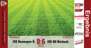Read more about the article U12 D2: JSG Neumagen-Dhron – JSG Hunsrückhöhe Morbach 0:6 (0:2)