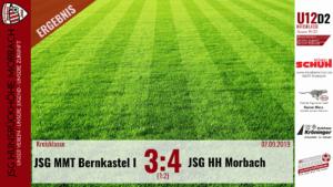 U12 D2: JSG Mittelmoseltal Bernkastel – JSG Hunsrückhöhe Morbach 3:4 (1:2)