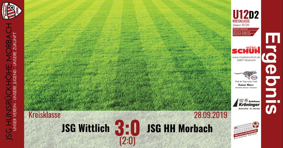 U12 D3: JSG Wittlich – JSG Hunsrückhöhe Morbach 3:0 (2:0)