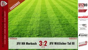 U12 D3: JSG Hunsrückhöhe Morbach – JFV Wittlicher Tal III 3:2 (1:1)