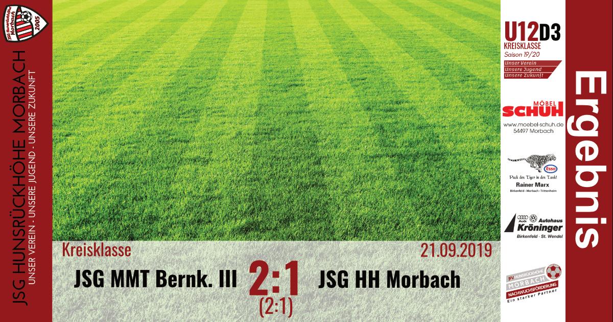 U12 D3: JSG Mittelmoseltal Bernkastel III – JSG Hunsrückhöhe Morbach 2:1 (2:1)