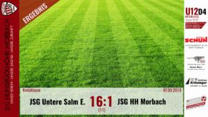 U12 D4: JSG Untere Salm Esch – JSG Hunsrückhöhe Morbach 16:1 (7:1)