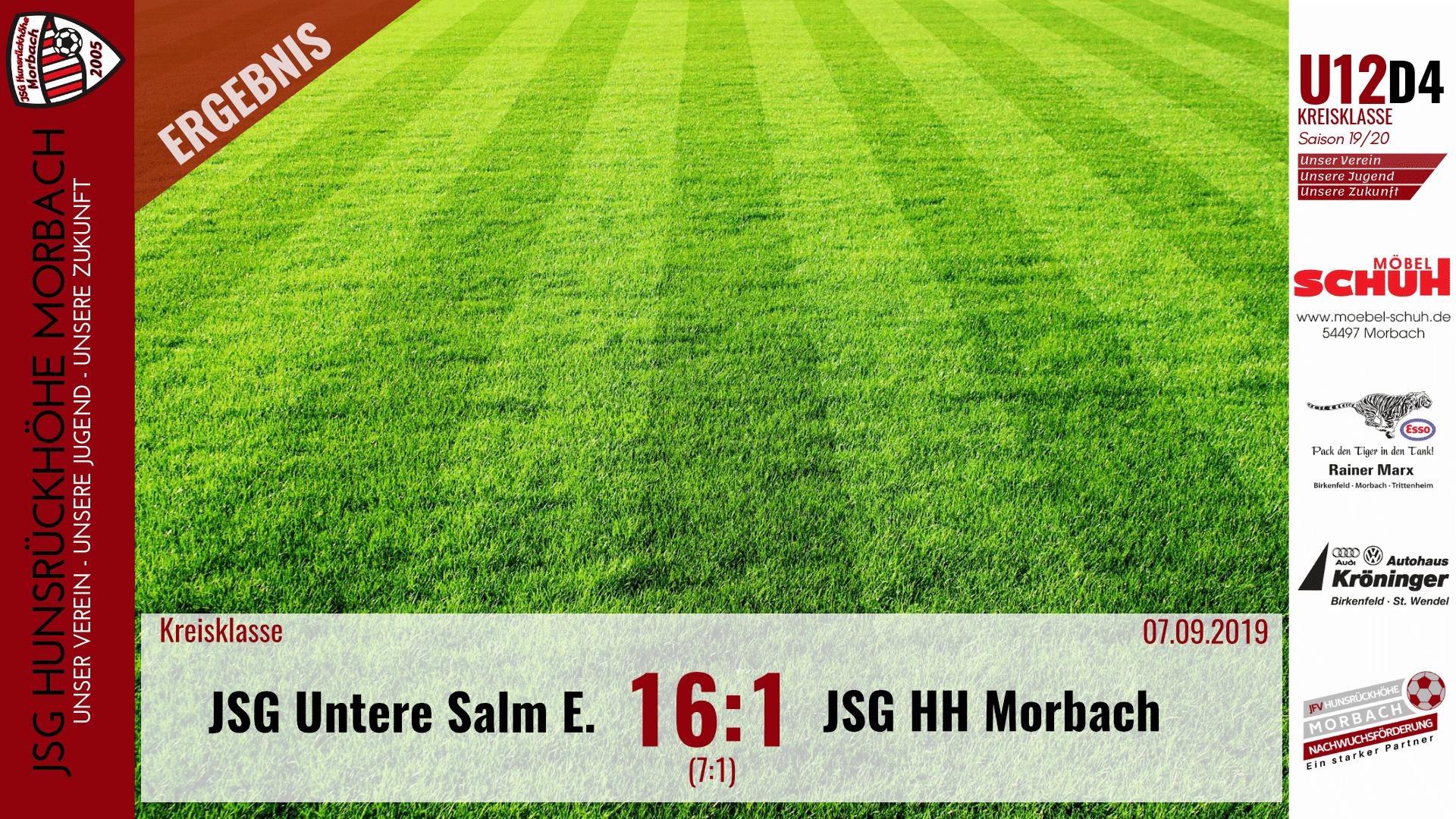 Read more about the article U12 D4: JSG Untere Salm Esch – JSG Hunsrückhöhe Morbach 16:1 (7:1)