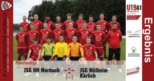 U19 A1: Vorbericht ~ JFV Hunsrückhöhe Morbach – SG Mülheim-Kärlich ~ So., 06.10.19 12:30 Uhr