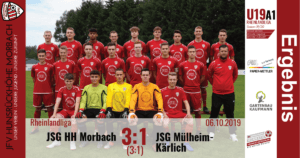 U19 A1: JFV Hunsrückhöhe Morbach – SG Mülheim-Kärlich 3:1 (3:1)