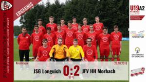 U19 A2: JSG Longuich – JFV Hunsrückhöhe Morbach 0:2 (0:1)