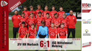 U15 C1: JFV Hunsrückhöhe Morbach – JSG Mittelmosel Mehring 6:1 (3:1)