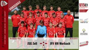 U15 C1: Vorbericht ~ JSG Zell –  JFV Hunsrückhöhe Morbach ~ Sa., 26.10.19 11:30 Uhr