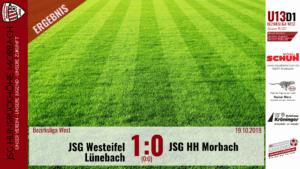 U13 D1: JSG Westeifel Lünebach – JSG Hunsrückhöhe Morbach 1:0 (0:0)
