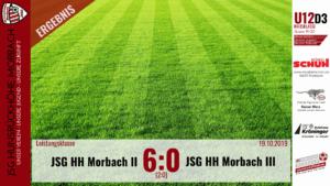 U12 D3: JSG Hunsrückhöhe Morbach II – JSG Hunsrückhöhe Morbach III 6:0 (2:0)