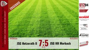 U12 D4: JSG Hetzerath II – JSG Hunsrückhöhe Morbach 7:5 (5:1)