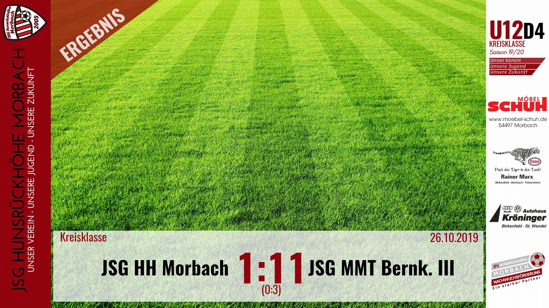 U12 D4: JSG Hunsrückhöhe Morbach – JSG Mittelmoseltal Bernkastel III 1:11 (0:3)