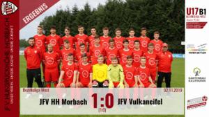 U17 B1: JFV Hunsrückhöhe Morbach – JFV Vulkaneifel 1:0 (1:0)
