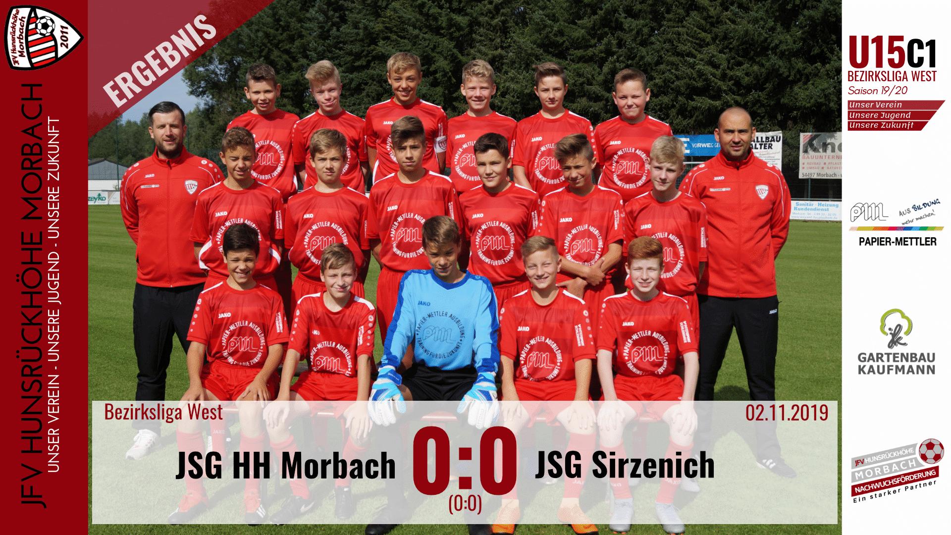U15 C1: JFV Hunsrückhöhe Morbach – JSG Sirzenich 0:0 (0:0)